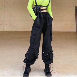 High Waist Baggy Cargo Pants