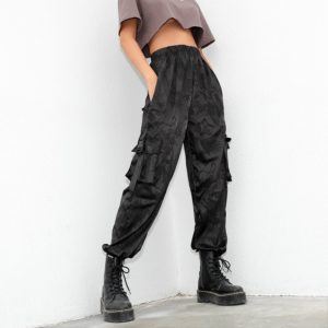 Black Dragons High Waist Trousers