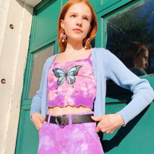 Butterfly Tie-Dye Tank Top
