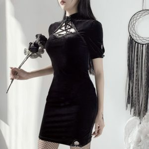Cheongsam Gothic Mini Dress