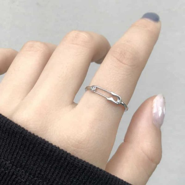 Safety Pin Adjustable Ring