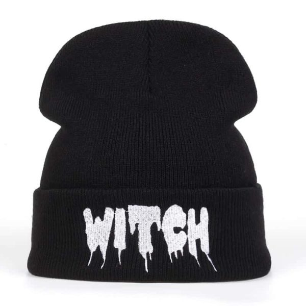 """Witch"" Dripping Beanie"