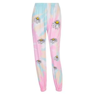 Floral Tie Dye Trousers