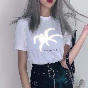 "Reflective Spider ""You are dead"" Japanese Shirt"