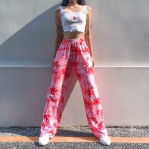Pink Tie-Dye Trousers