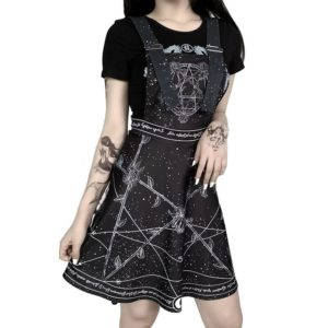 Gothic Constellation Roses Mini Dress 2