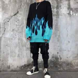 Flaming Oversized Sweater