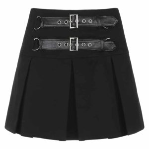 Mini Skirt with Double Belts