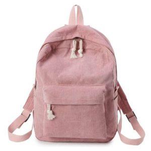 Corduroy Backpack Pink