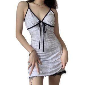 White Slip Lace Mini Dress